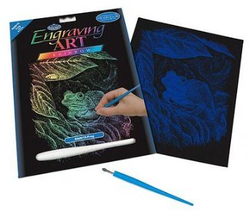 ENGRAVING ART SET - FROG (RAINBOW FOIL) by ROYAL & LANGNICKEL